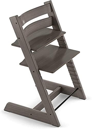 TRIPP TRAPP® sedia evolutiva per neonati, bambini, adulti │ Seggiolone in legno di faggio regolabile in altezza │ Colore: Hazy Grey