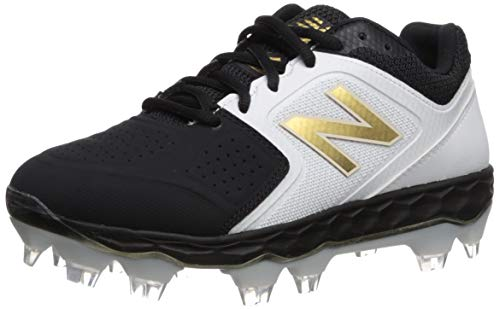 New Balance womens Fresh Foam Velo V1 Tpu Molded Softball Shoe, Black/Black, 8.5 US