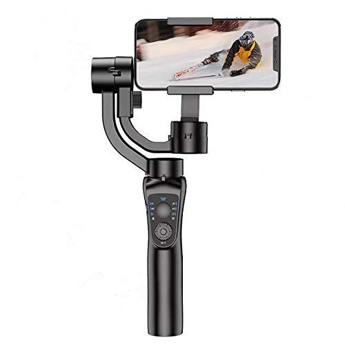 JXDN Estabilizador de cardán de 3 ejes para iPhone 12 11 PRO MAX X XR XS Smartphone Vlog Youtuber Grabación de vídeo en tiempo real con modo de detección de movimiento Seguimiento de objetos faciales