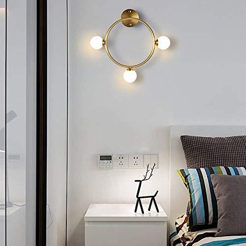 Wandlantaarn, kristallen wandlamp, spiegel, verlichting vooraan, moderne wandlamp van koper, fixatie persoonlijkheid van het leven, achtergrondverlichting, wandverlichting voor woonkamer loft trap Rond