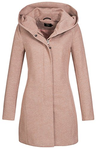 Only onlSEDONA Light Coat OTW Noos Abrigo, Marrón (Mocha Mousse Detail:Melange), 36...