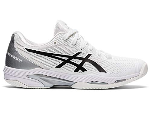 ASICS Women's Solution Speed FF 2 Tennis Shoes, 6.5, White/Black