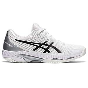 ASICS Women's Solution Speed FF 2 Tennis Shoes, 9, White/Black