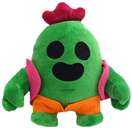 Bprtcra Kaktus Plüschtier, Cartoon Anime Cactus Plüsch Kuscheltier Kaktus Weiche Kuscheltiere Spielzeug, Cactus Figuren Toy Brawl Toy Plüschpuppe Geschenke für , Halloween, Christmas, 20 cm