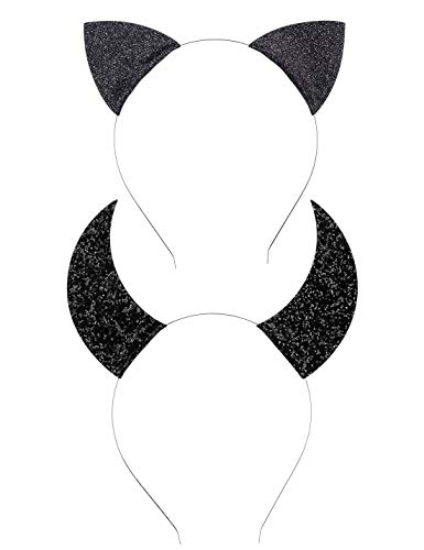 Anna Belen Girls Kitty Glitter Cat Ears Headband