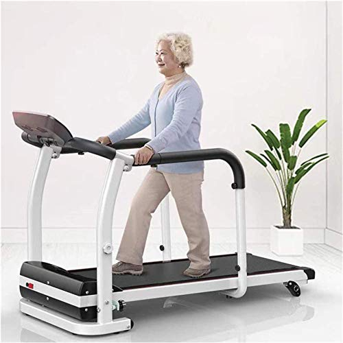 ZRXRY Foldable Motorised Rehabilitation Treadmills 0.5-6 Km/h Home Elderly Running Walking Machine Ultra Thin and Silent Long-Handrail Intended Fitness Exercise Limb Recovery 120kg