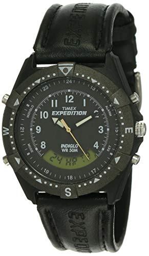 Timex Reloj analógico digital para hombre, esfera negra, TW00MF103