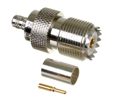 AIR802 UHF (SO-239) Jack (Female) Crimp Connector for Cable Types CA240, Times Microwave LMR240 and Equivalent Size Cables