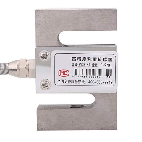 Weighting Sensor, Asixx S Type High Precision Load Cell Scale Sensor Weighting Sensor with Cable(100kg)