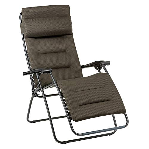 LAFUMA MOBILIER Relax-Liegestuhl, Klappbar und verstellbar, RSXA Clip, Air Comfort, Farbe: Taupe, LFM2035-7057