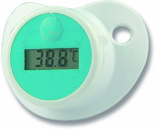 H+H BS 32 Schnuller-Thermometer Baby (Schnullerschutzkappe, Schnelle Messung, Sehr genau Elektronisches Fiebermessgerät, Fieberthermometer für Säuglinge)