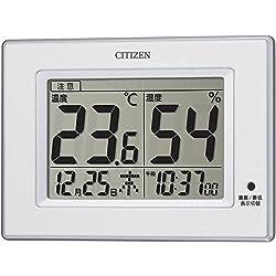 CITIZEN シチズン 温度計 湿度計 時計付き ライフナビの商品画像