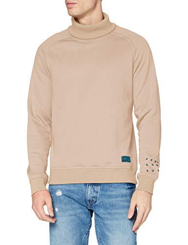 Scotch & Soda Mens Weiches hohem Kragen Sweatshirt, 3926 Mushroom Brown, M