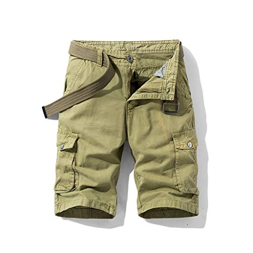 vermers Fashion Cargo Shorts for Men 2018 New Summer Casual Work Short Pants with Pocket(34, Khaki)