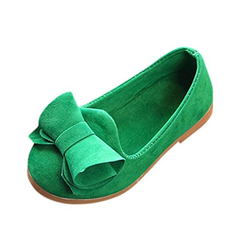 LNGRY Shoes,Toddler Kids Baby Girls Bowknot Slip On Mary Janes Casual Loafers Lazy Flats Shoes