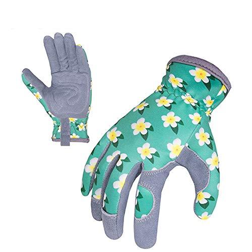 Robuste Gartenhandschuhe, Dornschutz-Leder-Arbeitshandschuhe, Rosen-Gartenhandschuh, Slim-Fit, verstärkte Rigger Handschuhe für Gartenarbeit, L, 2