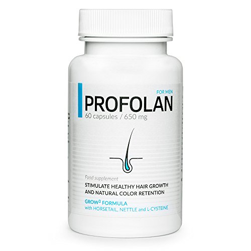 ✅PROFOLAN Premium-efectivamente detiene la pérdida de cabello, estimula el crecimiento, fortalece el color, previene el encanecimiento del cabello, paquete básico, 60 cápsulas