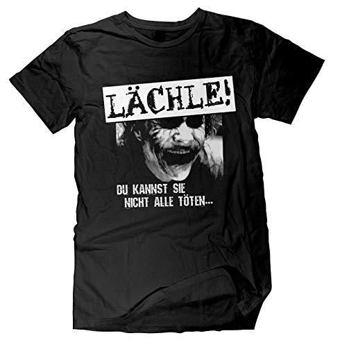 lächle du Kannst sie Nicht alle töten T-Shirt | Sprüche | Fun Shirt | Lustig | Nerd | Spaß Tshirt | Größe L