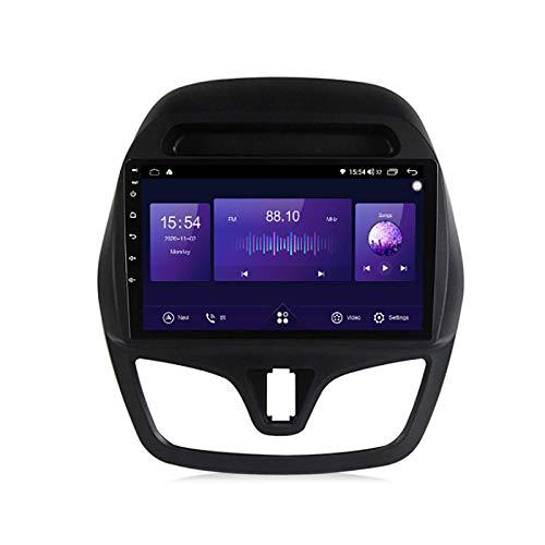 Coche estéreo GPS para vehículo Chevrolet Spark Beat 2015-2018 Radios navegación GPS capacitiva táctil HD Carplay Radio Multimedia Sistema de radio incorporado Tracker, 4Core 4G+WIFI: 1+16G