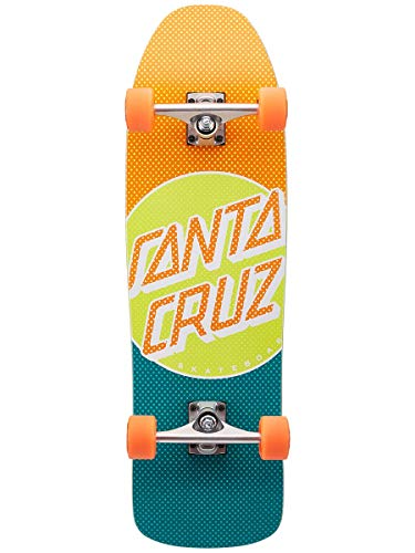 Santa Cruz Complete Skateboard, Process Dot 80s Cruzer, Mehrfarbig, 23,9 cm L x 80 cm W