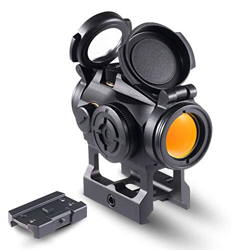 Pinty Pro 1x22mm Red Dot Reflex Sight with Lower 1/3 Co-Witness Mount Red Dot Sight with 8 Brightness Settings Aluminum Construction Compact Tactical Low Profile Parallax Free