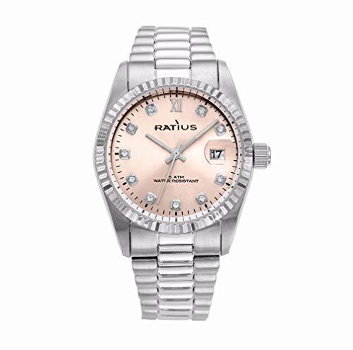 Ratius Damen Uhr 22.43006ML.25 Edelstahl mit Datumsanzeige