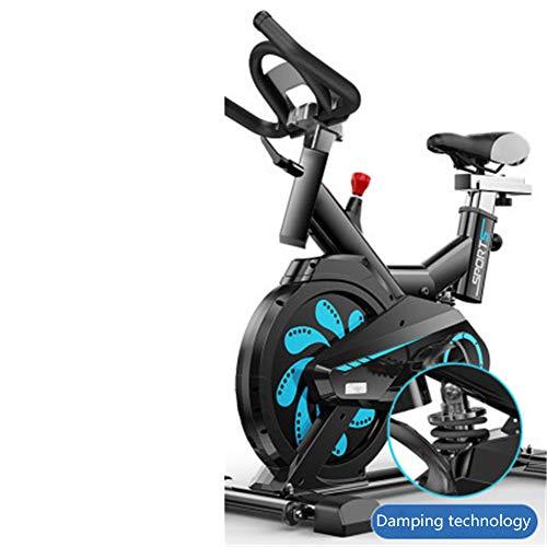 ZMXZMQ Bicicleta estática recumbente con resistencia, estacionaria para interiores bicicleta magnética, con soporte plano y cómodo cojín de asiento