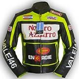 4LIMIT Valentino Rossi - Chaqueta de piel para motorista