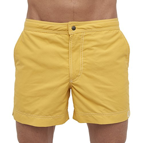DEBOCHADO® Rocha Basic Coole Badehose Herren stylische Designer Badeshorts Männer Retro Taschen kurz schnelltrocknend