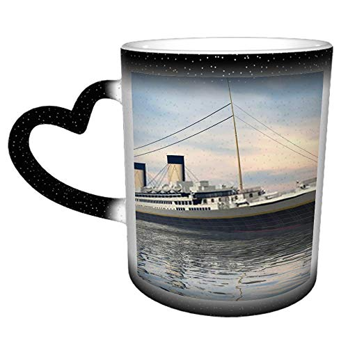 Titanic Ship Render H Taza de cambio de color de cielo estrellado...
