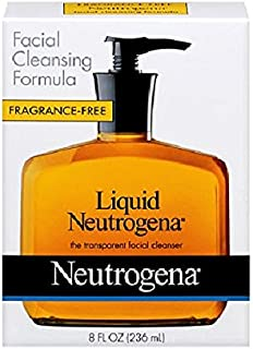 Neutrogena Fragrance Free Liquid Facial Cleansing Formula, 8 Oz (2 Pack)