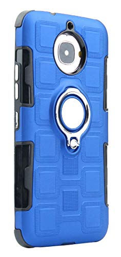 """Grandcaser Capa para Moto G5S Plus Ultra Fina 2 em 1 Camada Dupla Híbrida À Prova de Choque 360° Suporte Flip Capa de Proteção Magnética para Motorola Moto G5S Plus 5,5"""" – Azul"""