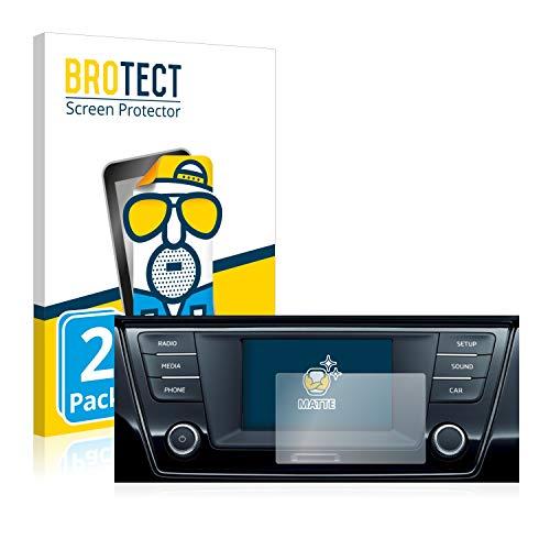 BROTECT 2X Entspiegelungs-Schutzfolie kompatibel mit Skoda Infotainment System Swing 6.5