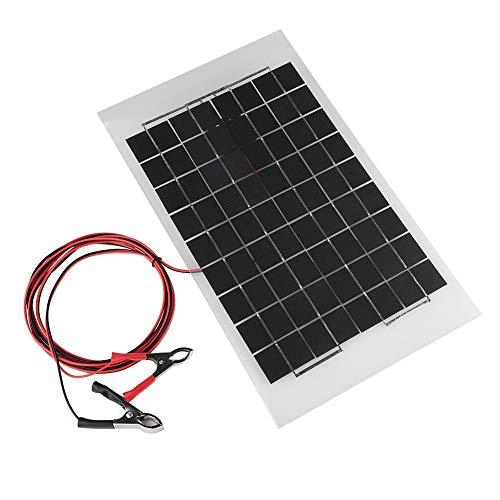 Vbestlife Cargador Panel Solar de Alta Potencia Impermeable,Policristalino Portátil del Panel Solar 10W con el Clip de Cocodrilo Batería de Soler Interior/al Aire Libre