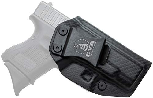 CYA Supply Co. Fits Glock 26/27/33 Gen3-5 Inside Waistband Holster Concealed Carry IWB Veteran Owned Company (Carbon Fiber, 013- Glock 26/27/33 Gen3-5)
