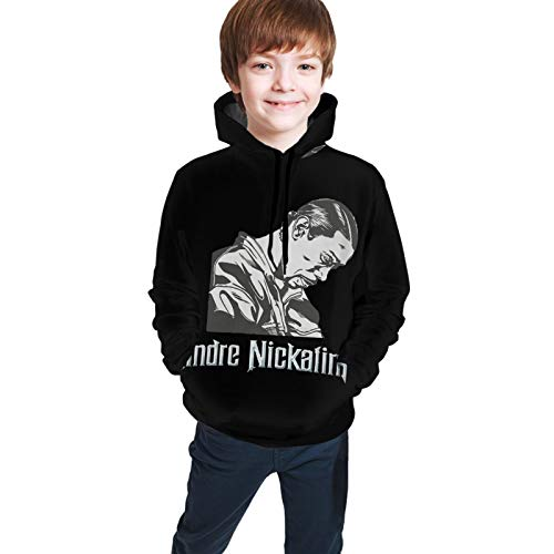 AngelaHenderson Andre Nickatina Funny Teen Hooded Sweater Jacket Comfortable Classic Boy and Girl Unisex-Baby Black