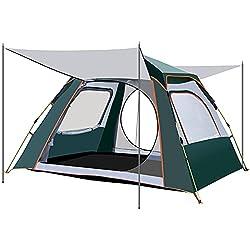GSOTOA Camping Zelt 2-4 Personen, Pop Up Wanderreisezeltes, Wasserdicht Belüftet Familienzelt für Outdoor Camping Trekking