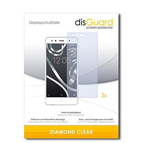 disGuard 3 x Schutzfolie BQ Readers Aquaris X5 Bildschirmschutz Folie DiamondClear unsichtbar