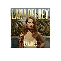 Lana Del Reyラナ・デル・レイ4 クール ポスター 壁アート キャンバス 印刷 アートパネル オフィス装飾 ぶら下がる 版画 ギフト16×16inch(40×40cm)