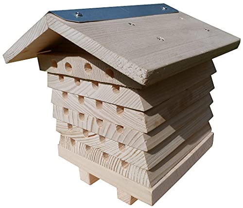 AGS Solitary Bee Hive House Beekeeping Beehive Interactive Insect Box Hotel...