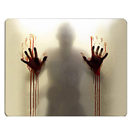 Nicokee Bloody Gaming Mousepad Bloody Shadow Hand Print Mouse Pad Mouse Mat for Computer Desk Laptop Office 9.5 X 7.9 Inch Non-Slip Rubber