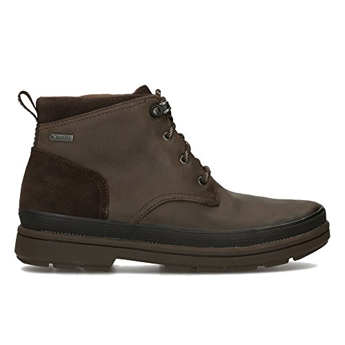 Clarks Herren RushwayMid GTX Klassische Stiefel, Braun (Dark Brown Leather), 41.5 EU