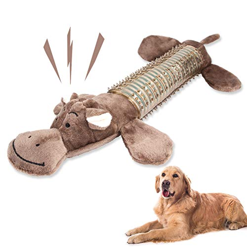 Hundespielzeug,stofftier für hunde,Spielzeug für Hunde,Kauspielzeug für robuste Zähne,Mittelgroße Hundespielzeug,Hundespielzeug ist ungiftig ,Hundespielzeug große hunde set,Spielzeug welpen(Nilpferd)