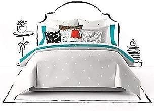 Kate Spade deco dot platinum gray polka dot queen full comforter set