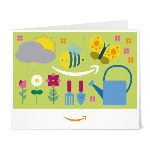 Amazon.de Gutschein zum Drucken (Garten Icons mit Biene)