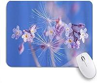 MISCERY マウスパッド 野草露活気のある美しい花 高級感 おしゃれ 防水 端ステッチ 耐久性が良い 滑らかな表面 滑り止めゴム底 24cmx20cm