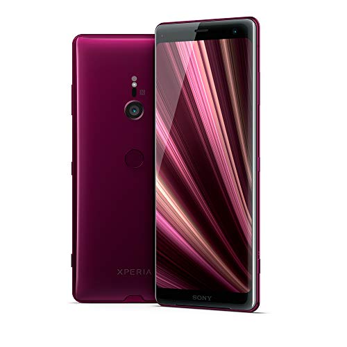 Sony Xperia XZ3 SIM Free Unlocked UK Smartphone 6', Single-SIM, OLED Screen, 64GB Internal Memory, 4GB RAM, Android 9.0 OS - Supplied with 64 GB Memory Card [Amazon Exclusive] – Bordeaux Red