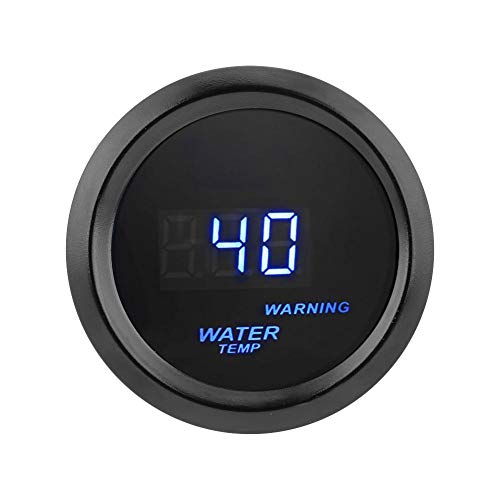 Keenso 300 ℉ Wassertemperaturanzeige 2 Zoll 52mm Auto Blaue LED Digitale Wassertemperatur Fahrenheit Anzeige Kit mit Sensor blaue Hintergrundbeleuchtung