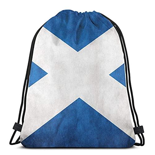 Kordelzug-Taschen mit Schottland-Flagge, Unisex, Kordelzug, Sporttasche, große Tasche, Kordelzug, Tragetasche, Turnrucksack, Bulkware