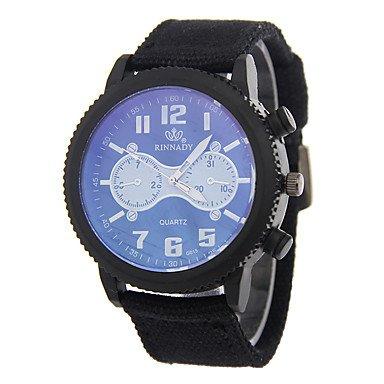 FENKOO Herren Sportuhr Quartz Armbanduhren für den Alltag Stoff Band Bettelarmband Mehrfarbig Marke